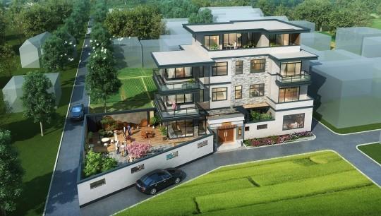 占地19x12四層帶庭院自建別墅設計全套施工圖