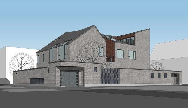 占地27x20三层带庭院自建别墅设计全套施工图