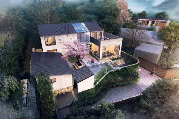 占地19x15二層帶庭院自建別墅設計全套施工圖