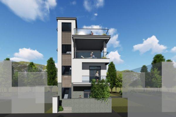占地8x10四层带露台自建别墅设计全套施工图