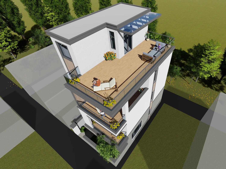 现代四层别墅设计图效果图