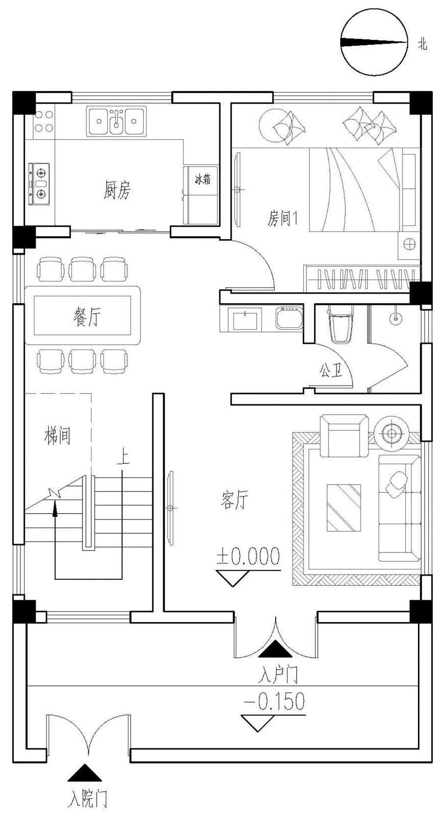 现代四层别墅设计图平面图