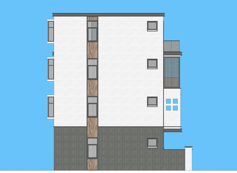 现代四层别墅设计图施工图