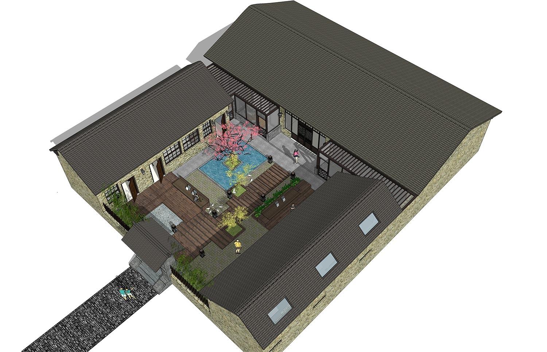 田园一层别墅设计图效果图