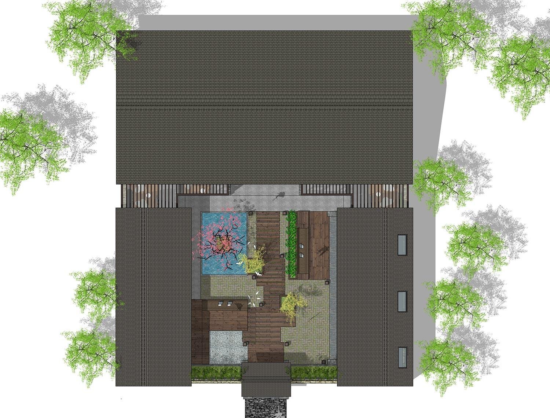 田园一层别墅设计图平面图