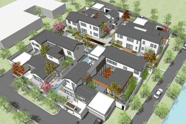 占地30x36层自建四拼别墅设计全套施工图
