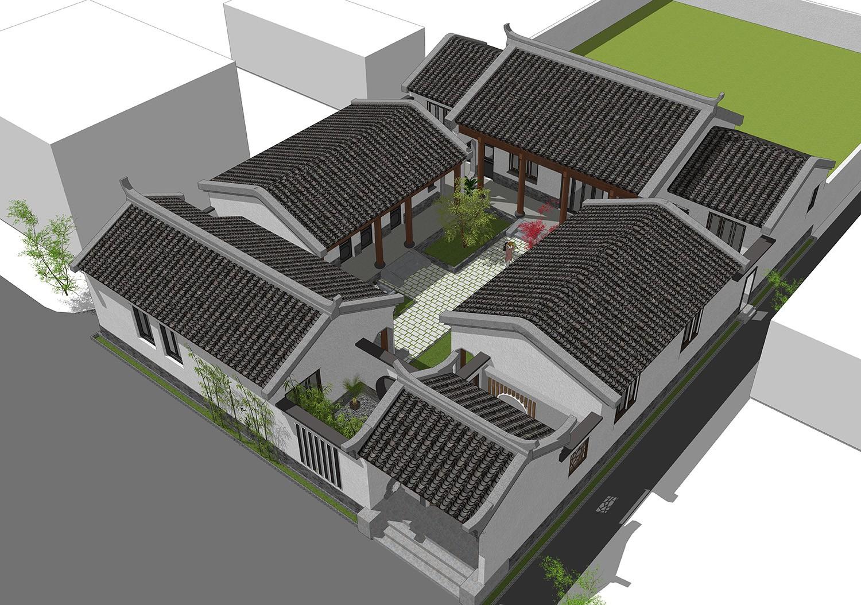 中式一层别墅设计图效果图