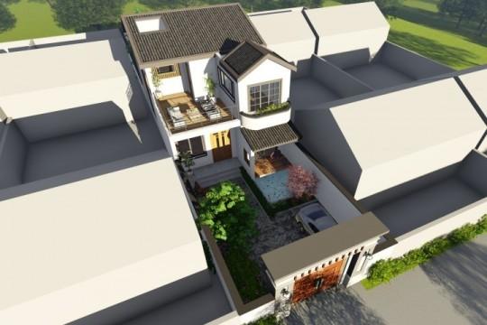 占地13x8二层带露台自建别墅设计全套施工图