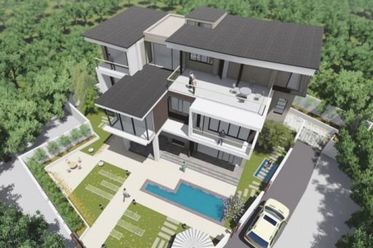 占地19x14三层带庭院自建别墅设计全套施工图