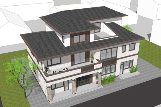 占地19x15三层带露台自建别墅设计全套施工图
