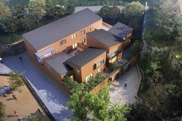 占地16x18二层带庭院自建别墅设计全套施工图