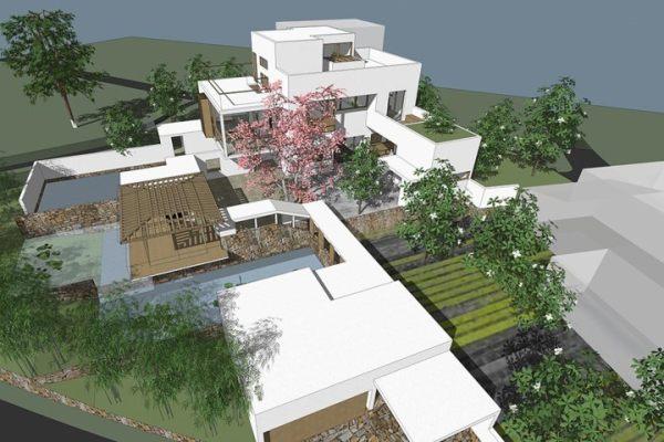 占地22x23三層帶露臺自建別墅設計全套施工圖