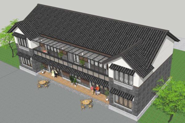 占地23x11二层双拼自建别墅设计全套施工图