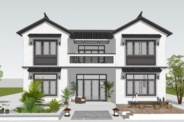 占地12x11二层带露台自建别墅设计全套施工图