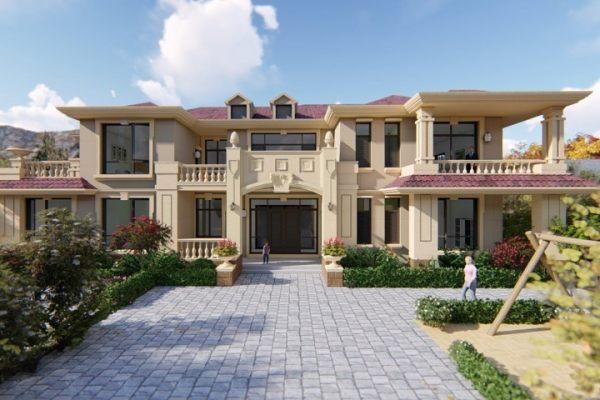 占地25x11二层带露台挑空自建别墅设计全套施工图