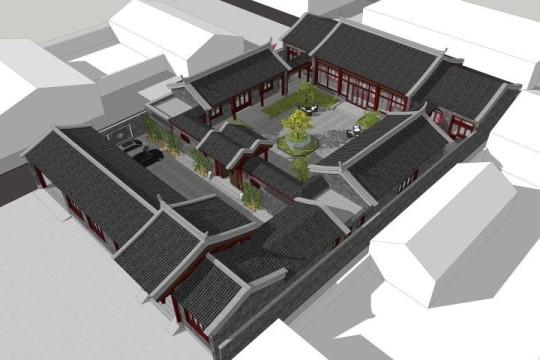 占地29x60一层自建四合院设计全套施工图