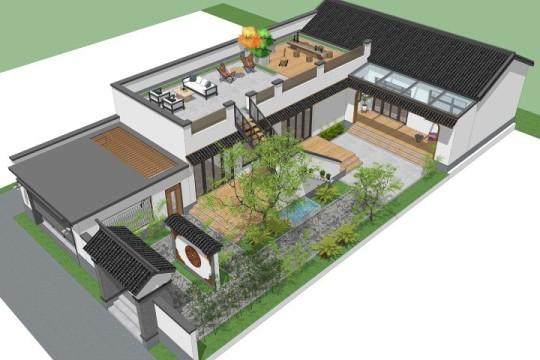 占地13x13二层带车库自建别墅设计全套施工图