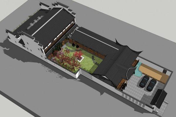 占地15x36二层带庭院自建别墅设计全套施工图