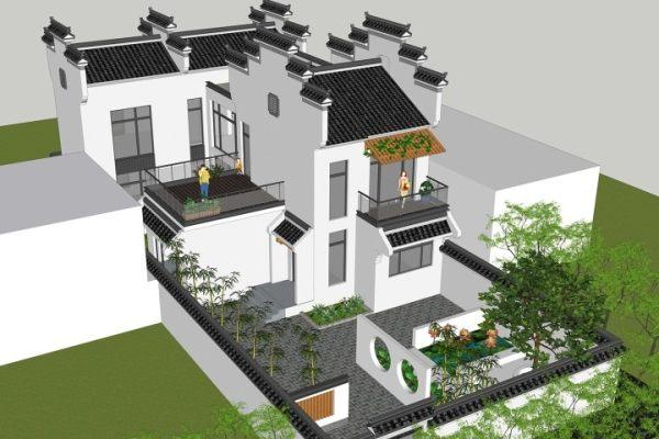 占地10x13二层带庭院自建别墅设计全套施工图