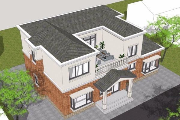 占地15x10二层带露台自建别墅设计全套施工图