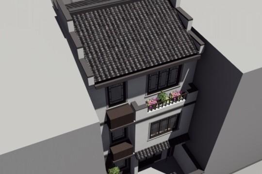占地5x22三层带庭院自建别墅设计全套施工图