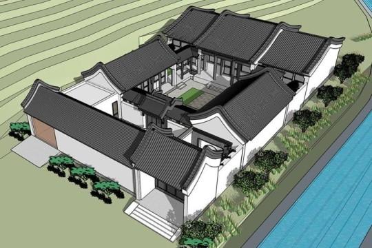 占地16x39一层自建四合院设计全套施工图
