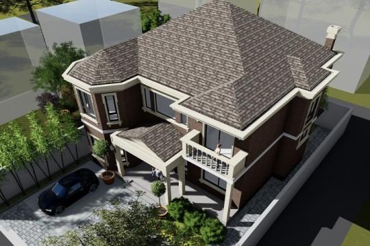 占地14x15二层带庭院自建别墅设计全套施工图