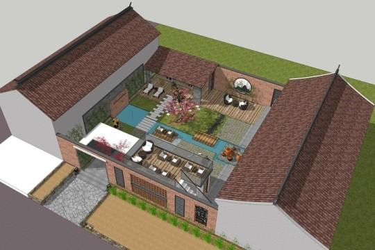 占地15x14一层自建民宿设计全套施工图