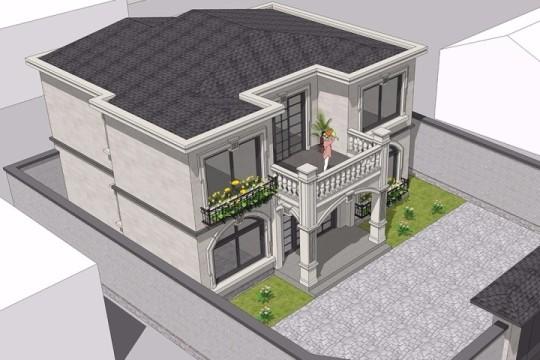 占地11x10二层带露台庭院自建别墅设计全套施工图
