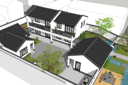 占地19x27二层带庭院自建别墅设计全套施工图