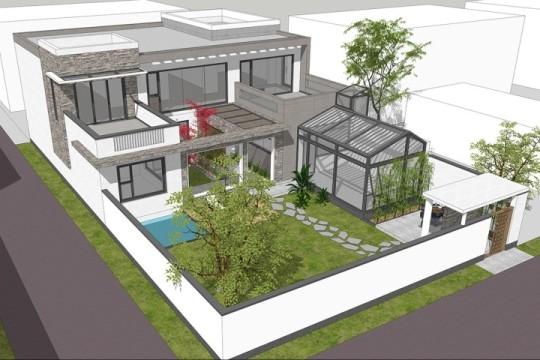 占地15x20二层带庭院露台自建别墅设计全套施工图
