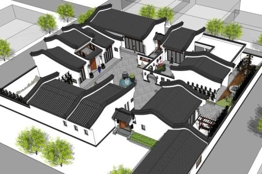 占地37x35层自建名宿院落设计全套施工图
