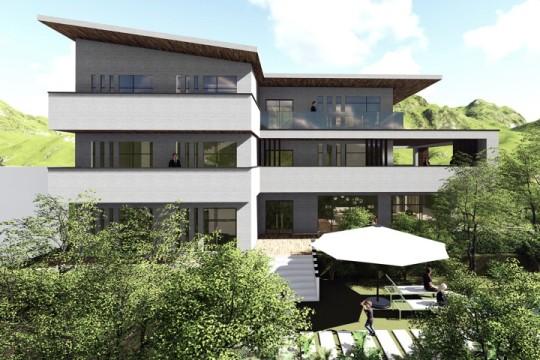 占地27x14三层带庭院自建别墅设计全套施工图