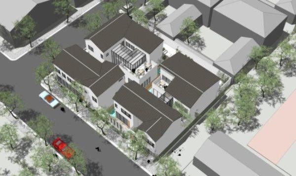 占地27x30二层自建四栋别墅设计全套施工图