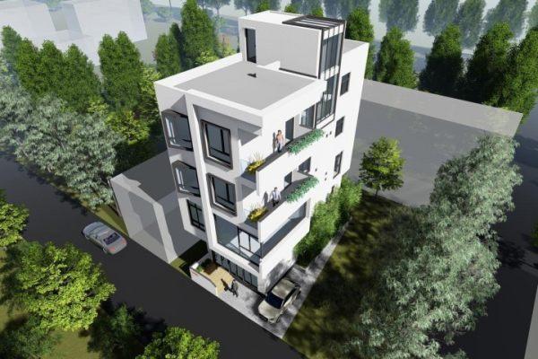 占地6x14四层带门面自建别墅设计全套施工图