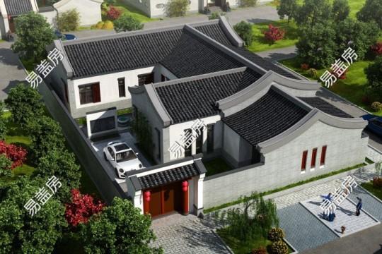 占地23x16二層帶庭院自建別墅設計全套施工圖