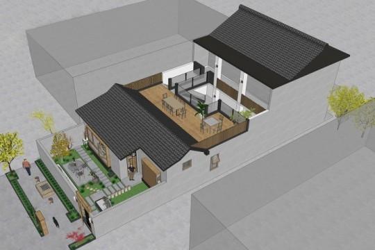 占地10x16二层带庭院自建别墅设计全套施工图