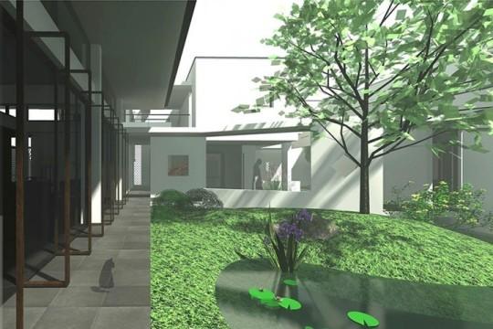 占地30x26二層帶庭院景觀自建別墅設計全套施工圖