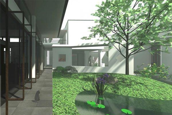 占地30x26二层带庭院景观自建别墅设计全套施工图