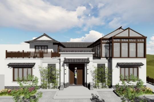 占地18x20二层带庭院自建别墅设计全套施工图