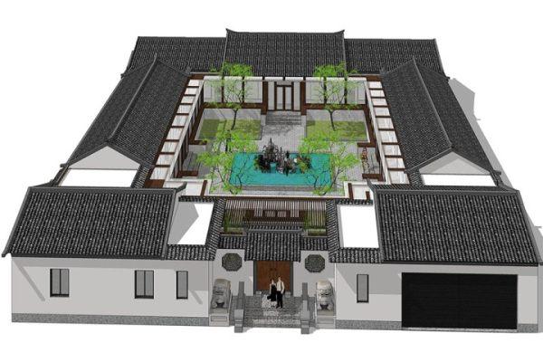 占地28x30一层自建四合院设计全套施工图