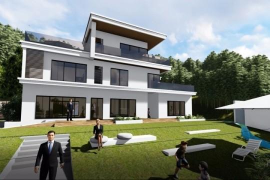 占地11x10三层带庭院露台自建别墅设计全套施工图