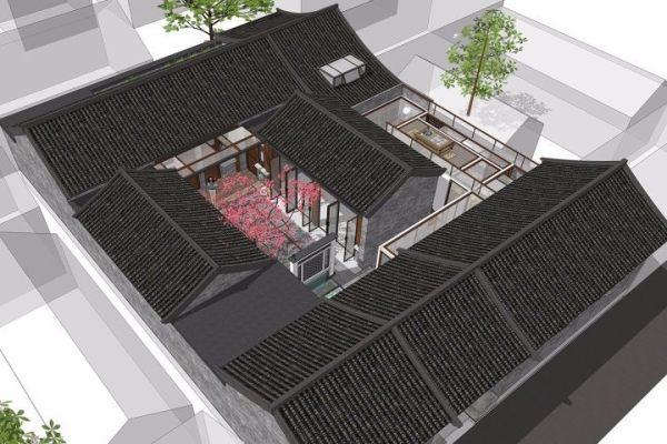 占地15x20二层自建四合院设计全套施工图