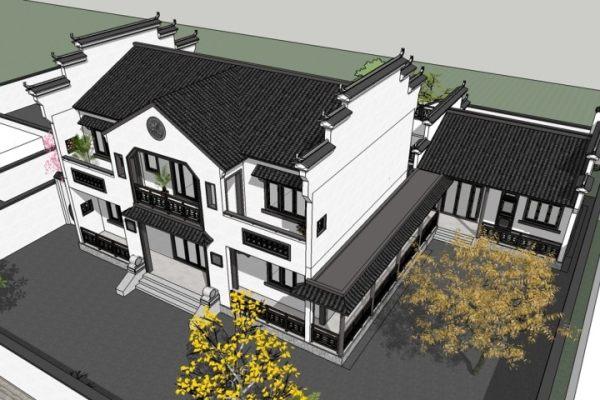 占地14x8二层带庭院自建别墅设计全套施工图