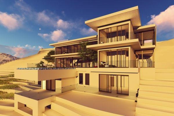 占地26x28三层超强设计感自建会所设计全套施工图