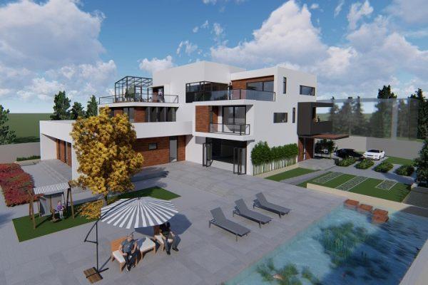 占地27x19三层带庭院景观自建别墅设计全套施工图