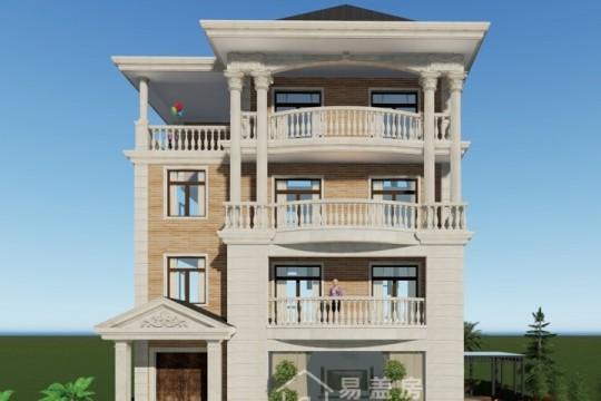 占地12x13四层欧式自建别墅设计全套施工图