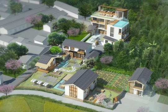 占地57x130二层自建民宿设计全套施工图