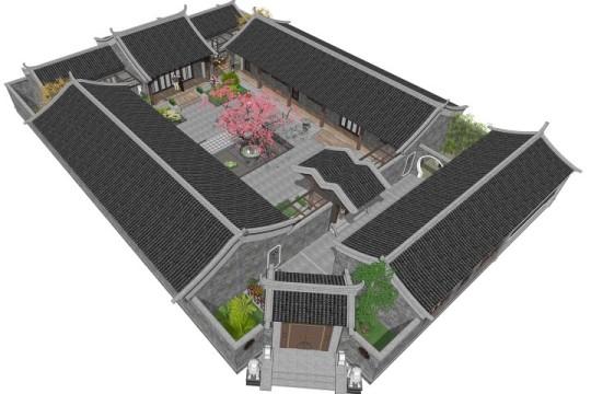 占地26x38一层自建四合院设计全套施工图