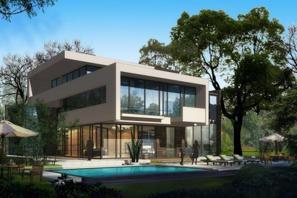 占地17x19三层带露台自建别墅设计全套施工图